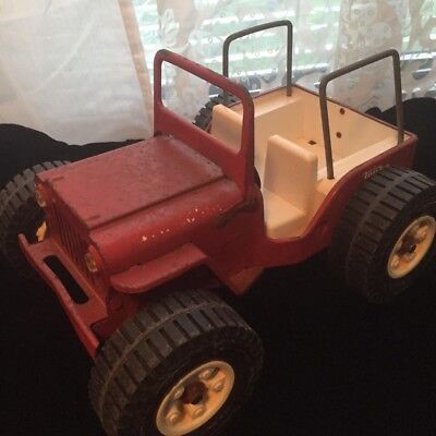 Tonka 'Red Jeep; Vintage 1960's; Pressed Steel; All Original Paint and Parts