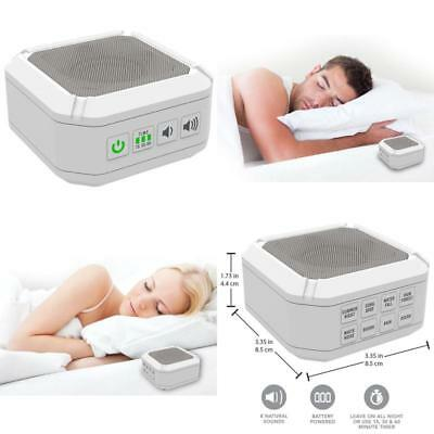 Sleep Therapy Sound Machine Portable White Noise Generator Relaxation Tool Baby