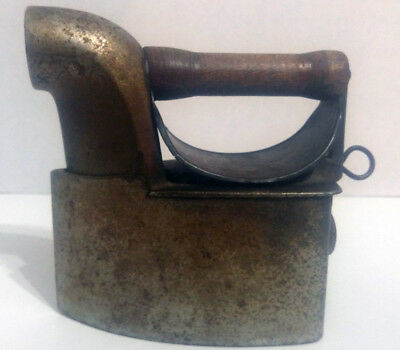 Antique Vintage Cast Iron Coal Iron