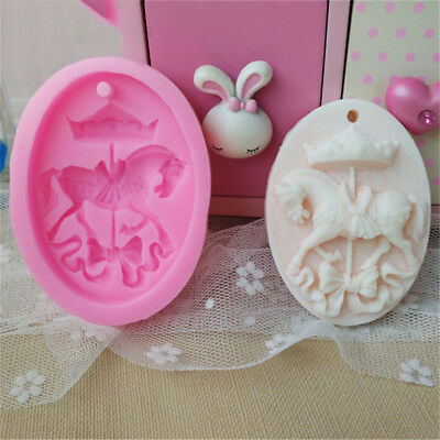 Creative Horse Shape Soap Fondant Cake Molds Chocolate Candy Biscuits Moulds FR
