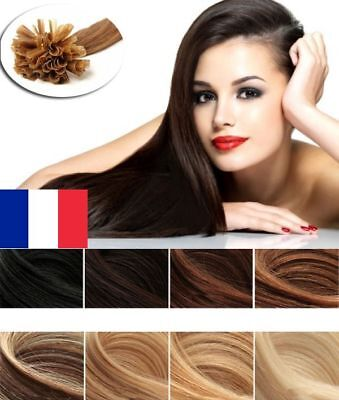 50/100/200 Extensions Cheveux Pose A Chaud Remy Naturels 49-60Cm 0,5G-1G Aaa Pro
