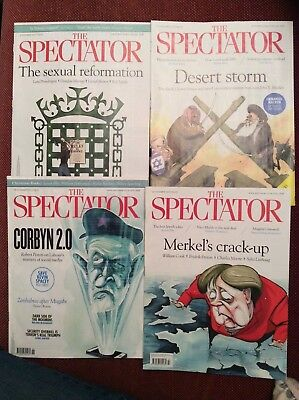 Spectator Magazine, 4 issues, 4th, 11th, 18th and 25th November 2017, pristine