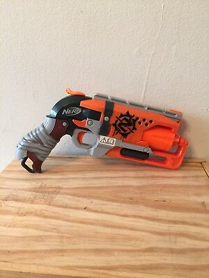 Nerf Zombie Strike Hammershot Blaster Collectible TESTED WORKS