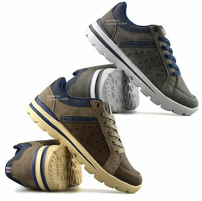 Mens New Casual Lace Up Memory Foam Walking Running Sports Trainers Shoes Size