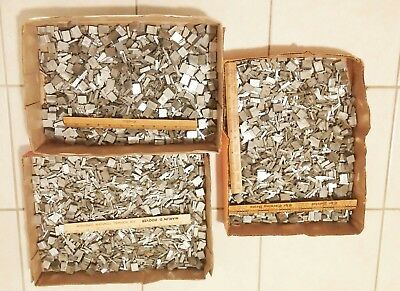 55 POUNDS of Vintage antique typeset block lead printing press letters