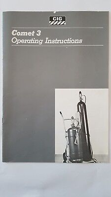 CIG COMET 3 WELDING OPERATING INSTRUCTIONS 12 page booklet