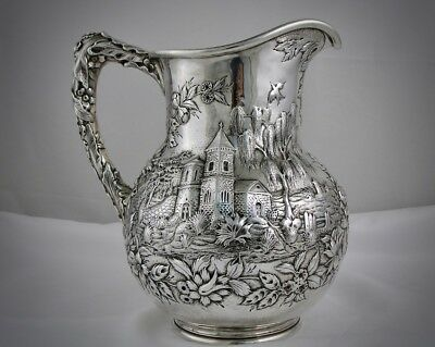 An Impressive S.Kirk & Son Sterling Silver Castle Pattern Water Pitcher