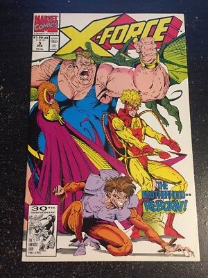 X-force#5 Incredible Condition 9.4(1991) Deadpool App, Liefeld Art!!