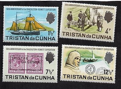 Tristan da Cunha 1971 Ship Boat Expedition Scout Troop Stamps #153-156 MNH