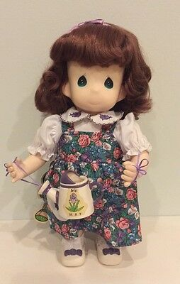 "PRECIOUS MOMENTS DOLL ""Iris"" #1429 May Birthday Month Where Friendship Bloom NWT"
