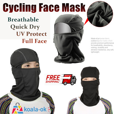 Breathable Face Mask Quick Dry Outdoor Tactical Motorcycle Cycling UV Protect kk