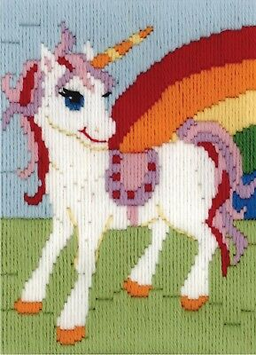 Rainbow Unicorn Long Stitch Kit for Kids Beginners from Beutron 579878