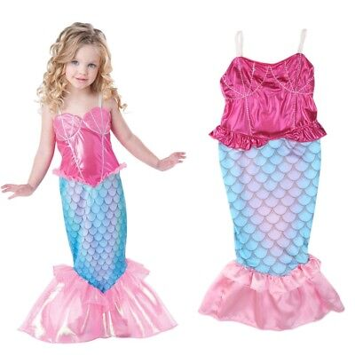 The Little Mermaid Baby Girls Clothes Swimsuit Kids Dresses Princess Cosplay A18