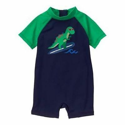 NWT Gymboree Baby Boys Rash Guard Dinosaur Swimsuit Swim Shop Meow and Roar