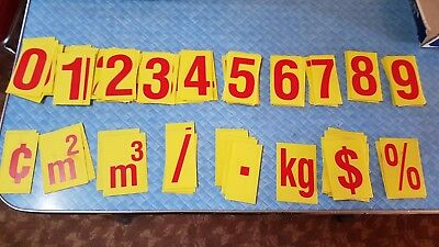 Collectable Set Of Plastic Numbers Education