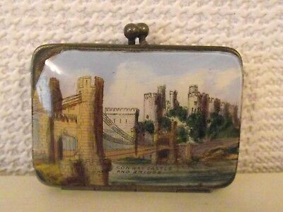 Lovely Antique Victorian Coin Purse - Conway Castle And Bridge