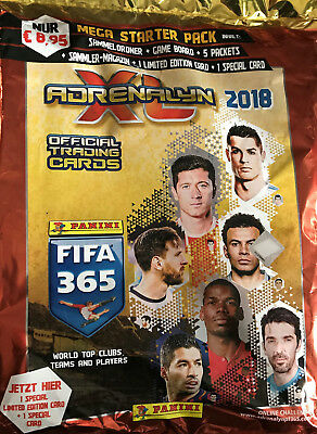 Panini Adrenalyn XL Mega Starter Pack  Limited Edition - FIFA 365 2018