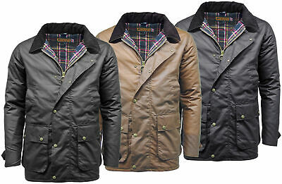 Mens Game Winchester Padded Antique Wax Jacket Coat