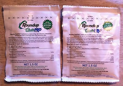 Roundup QuikPRO herbicide weed killer 73.3% Glyphosate with Diquat NEW 2 packets