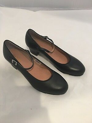 BLOCH EUC Women's Mary Jane Tap Shoes Black Leather Size 10