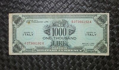 Banconota 1000 Am Lire Bilingue Occupazione Americana In Italia Decr 1943  Bb+