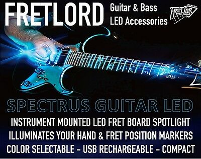 Guitar Fret Board LED Light RED FRETLORD SPECTRUS