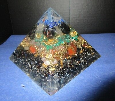 "3 1/2"" high Orgone Pyramid Fused with ALCHEMY!  Works on your specific needs!"