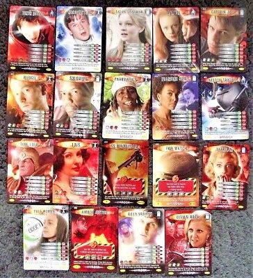 Lot of 19 Doctor Who Battles In Time Invader Common and Rare Trading Cards 2008