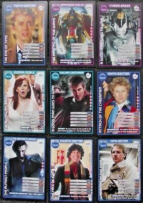Lot of 17 Doctor Who Monster Invasion Extreme Common and Rare Trading Cards
