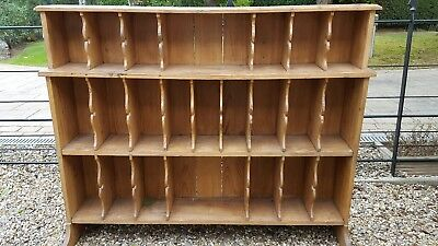 Pigeon Hole Antique Pine Dresser Top or Floor Standing Bookcase