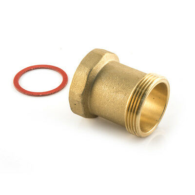 """New Pump Adaptor With Gasket - 1.1/2"""" M/F Long, 50mm long, central heating, UK"""