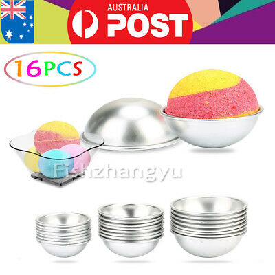 16PCS Round Aluminum Ball Sphere Bath Bomb Mold Moulds DIY Homemade Crafting HOT