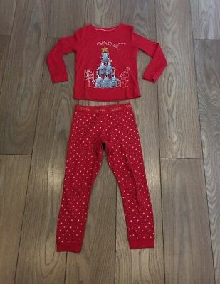 Girls Red Age 7-8 Years M&S Christmas Pyjamas