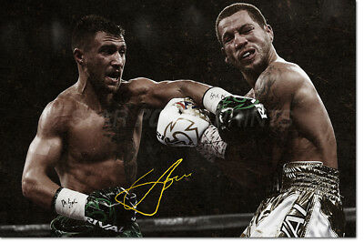 Vasyl Lomachenko Photo Print Poster Pre Signed - Superb Quality- 12 X 8 Inch - 2