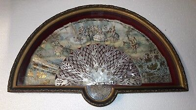 Superb Antique French 18Th Carved Gold Inlay Mother Of Pearl