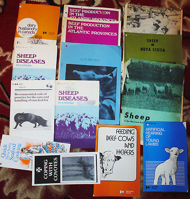 Vintage Lot 14 pieces of Sheep & Cattle literature 1970s