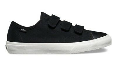 df4c4b94037 Vans Prison Issue Twill Black Blanc De Blanc No Lace Canvas Shoes New In Box
