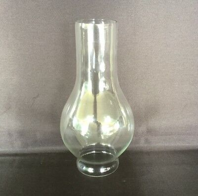 Marine Gimbal Oil Lamp Glass Chimney Large - 52mm Base Diameter, 170mm Tall.