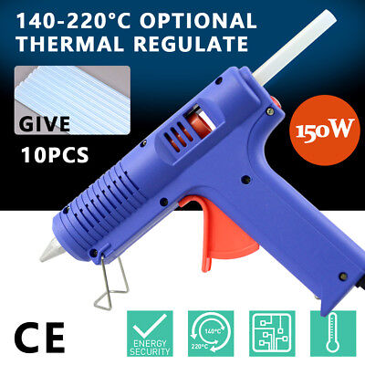 150w Glue Gun Electric Heating Craft Hot Melt Glue Gun AU PLUG + 10 Glue Sticks