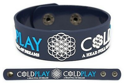 COLDPLAY Rubber Bracelet Wristband Parachutes Rush of Blood to the Head