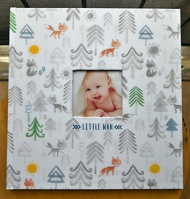 CR Gibson LITTLE MAN Woodland Forest Trees Baby Boy Memory Keepsake Book