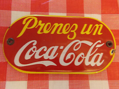 Coca Cola Porcelain Sign in French