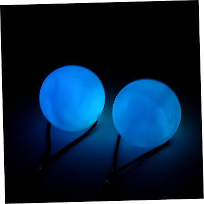 New Professional Belly Dance Level Hand Props LED RGB POI Thrown Balls JK