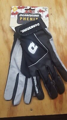 NEW! DeMarini Phenix Womens Baseball Softball Black Batting Gloves -  Large