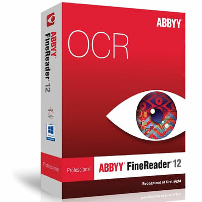 ABBYY FineReader 12 Portable PDF converter/OCR/Pro (digital delivery)