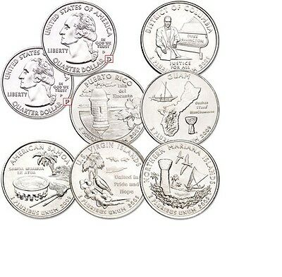 2009 Uncirculated D Set of 6 Puerto Rico Guam Samoa Virgin Islands Marian