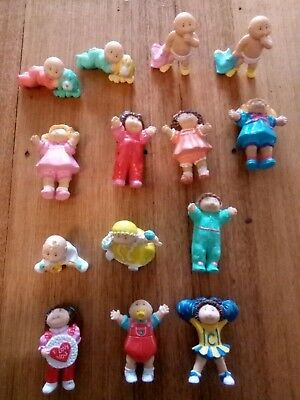 14 Vintage Cabbage Patch Kid Kids PVC 1984 Lot Collection Doll Toy RARE HTF OAA