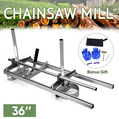 """Portable Chainsaw Mill For Saws 18""""-36"""" Bar Wood Cutting Slabbing Lumber Planks"""