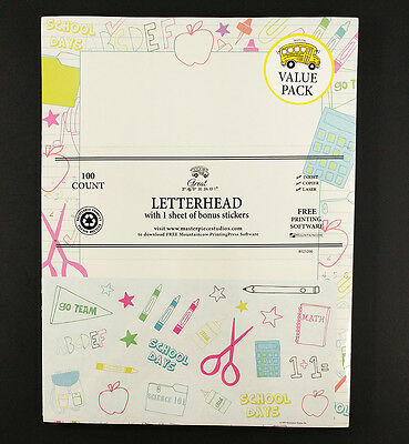 Schools In Great Papers Value Pack 100 Letterhead with Bonus Stickers