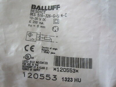 1PC New BALLUFF BES 516-326-G-S 4-C Proximity Switch